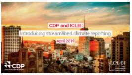 Sistema unificado de reporte de CDP e ICLEI