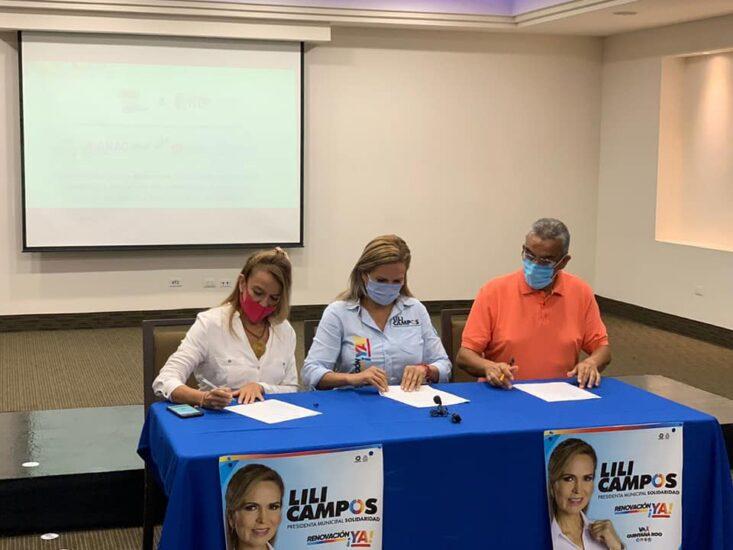 Firma del compromiso por el Desarrollo Sustentable y la Acción Climática,candidata Roxana Campos en Solidaridad, Quintana Roo.