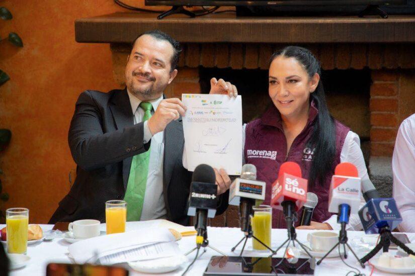 Firma del compromiso por el Desarrollo Sustentable y la Acción Climática de la candidata Gabriela Gamboa, en Metepec, Edo. Mex.