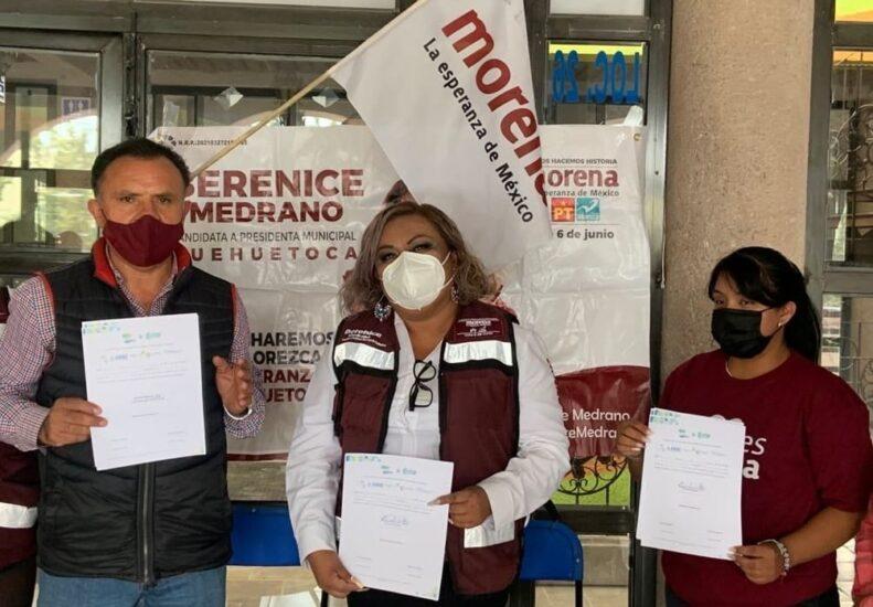 Firma del compromiso por el Desarrollo Sustentable y la Acción Climática de la candidata, en Huehuetoca, Estado de México.