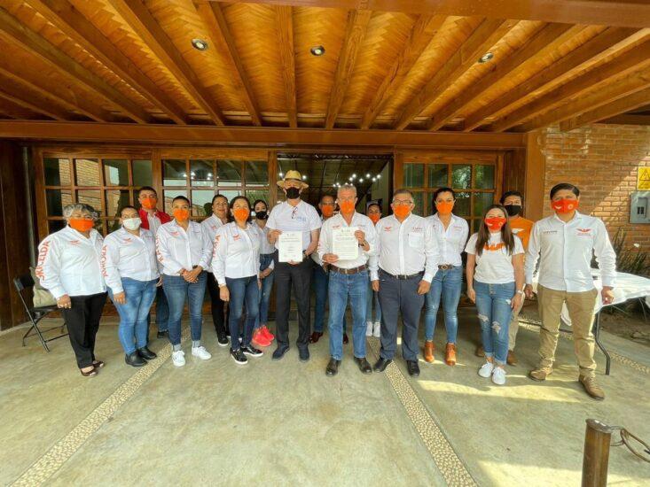 Firma del compromiso por el Desarrollo Sustentable y la Acción Climática del candidato, David Alfredo Mejía Negrete en Pátzcuaro, Michoacán, México.