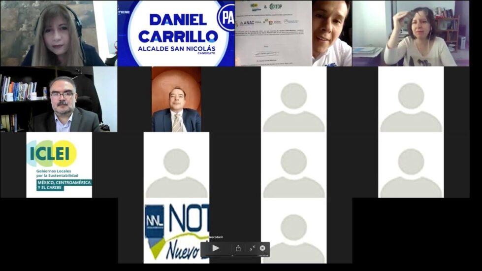 Firma del compromiso por el Desarrollo Sustentable y la Acción Climática del candidato, Daniel Carrillo Martínez en San Nicolás de los Garza, Nuevo León.