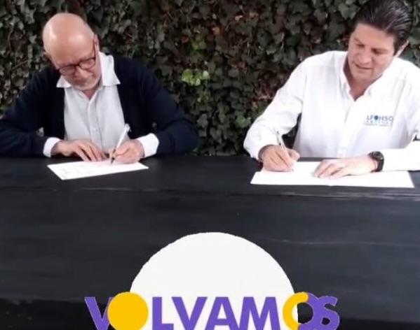 Firma del compromiso por el Desarrollo Sustentable y la Acción Climática del candidato, Alfonso Martínez Alcázar en Morelia, Michoacán, México.
