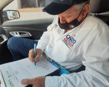 Firma del compromiso por el Desarrollo Sustentable y la Acción Climática del candidato Francisco Chato Zepeda en Magdalena de Kino, Sonora