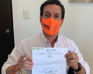 Firma del compromiso por el Desarrollo Sustentable y la Acción Climática del candidato David Figueroa Ortega en Hermosillo, Sonora
