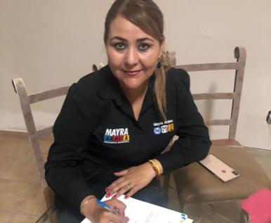 Firma del compromiso por el Desarrollo Sustentable y la Acción Climática de la candidata Mayra Judith Araiza Castillo en Santa Ana, Sonora