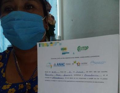Firma del compromiso por el Desarrollo Sustentable y la Acción Climática de la candidata Pascuala Diaz Gómez en Chikindzonot, Yucatán