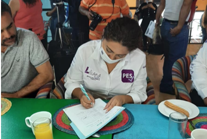 Firma del compromiso por el Desarrollo Sustentable y la Acción Climática de la candidata Liliana Rivera Colchado en Querétaro