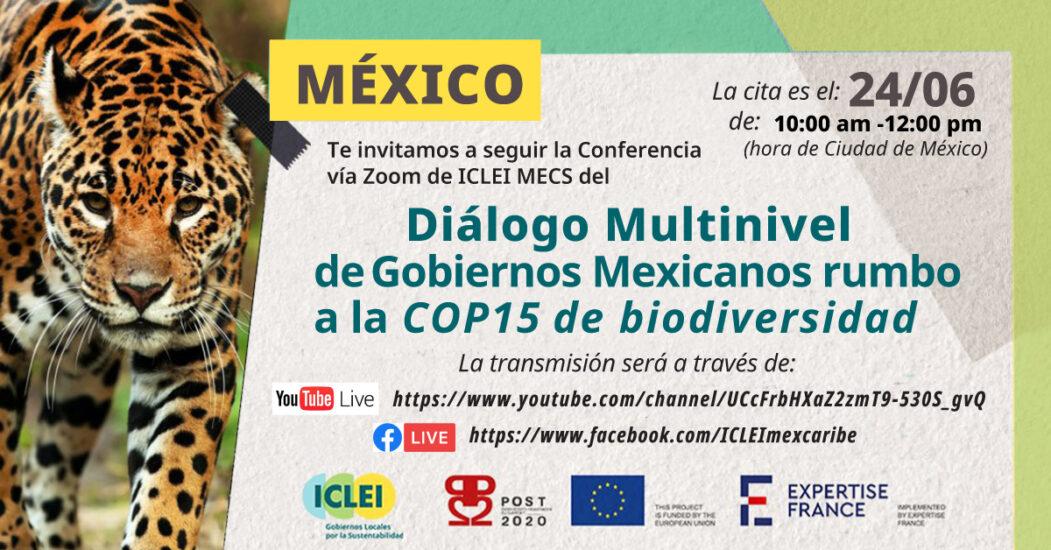 Diálogo Multinivel de Gobiernos Mexicanos rumbo a la COP15 de biodiversidad.