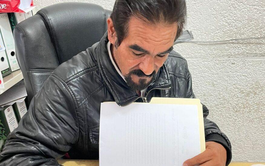 Firma del compromiso por el Desarrollo Sustentable y la Acción Climática del Presidente Municipal Aniceto Pastor Cruz en Chapa de Mota, EDOMEX.